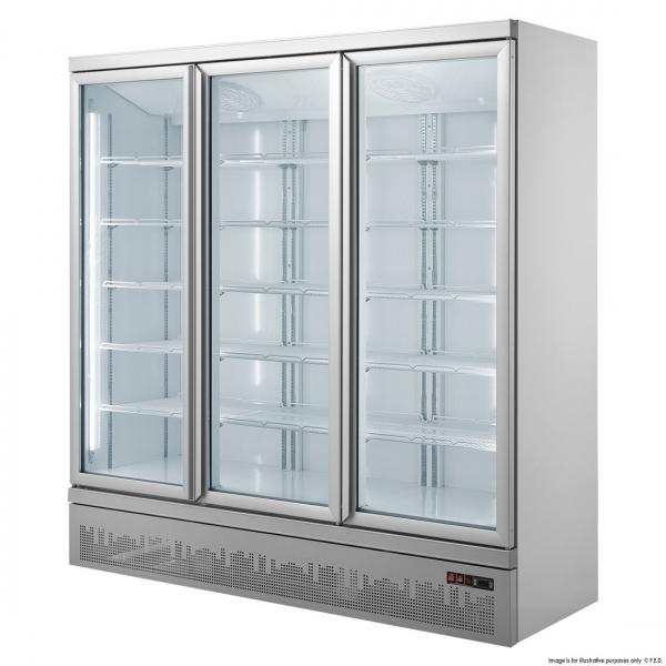 מקפיא 3 דלתות זכוכית דגם BF-1800